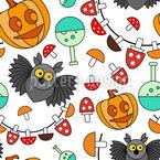 Halloween Eulen Party Vektor Muster