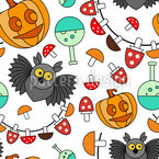 Halloween Owl Party Vector Pattern