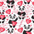 Verlibete Pandas Nahtloses Vektormuster