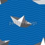 Papierschiffchen Nahtloses Vektormuster