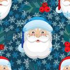 Der Weihnachtsmann ist hier Nahtloses Vektormuster