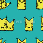 Curious owls Seamless Vector Pattern Design