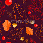 Colors of the fall Vector Pattern