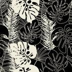 Fensterplatt Und Palmenblatt Bordüre Nahtloses Vektormuster
