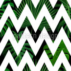 Zig zag Palm Leaves Vector Ornament