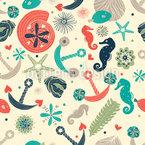 Sentiments océaniques Motif Vectoriel Sans Couture