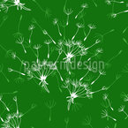 Dandelions Field Seamless Vector Pattern Design