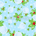 Under the Mistletoe Seamless Vector Pattern