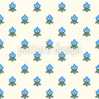 Stylized rose buds Repeat Pattern