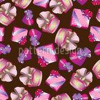 Presentes para Princesas Design de padrão vetorial sem costura