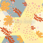 Leaves And Hexagons Vector Design