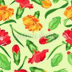 Blühende Nelken Designmuster
