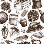 Ernte Tag Nahtloses Vektormuster