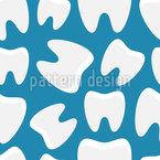 Gesunde Zähne Nahtloses Vektor Muster