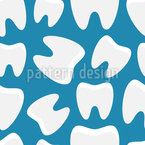 Healthy Teeth Seamless Vector Pattern