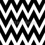 Monochrome Zig Zag Seamless Vector Pattern Design