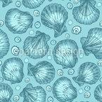 水中海洋生物 シームレスなベクトルパターン設計
