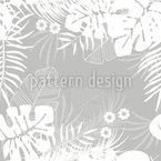 Waving Tropical Leaves Seamless Vector Pattern Design