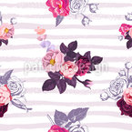 Small half-colored bouquets of roses Pattern Design