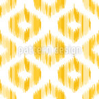 Sunny Side Up Ikat Seamless Vector Pattern Design
