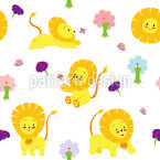 Baby Lion Repeating Pattern