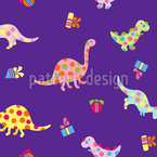 Dinosaur Fun Seamless Vector Pattern Design
