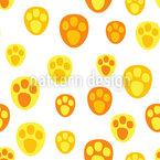 Babytier Fußabdruck Designmuster