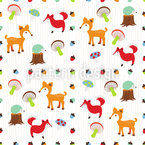 Life Of Woodland Seamless Vector Pattern Design
