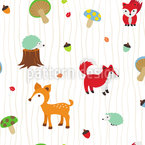 Woodland Seamless Vector Pattern Design