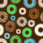 Bunte Donuts Designmuster