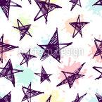 Skizzenhafte Sterne Vektor Ornament