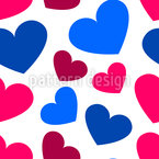 Round Hearts Seamless Pattern
