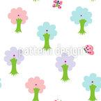Baby Trees Design de padrão vetorial sem costura