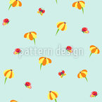 Butterflies And Blossoms Pattern Design