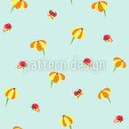 Schmetterlinge Und Blümchen Muster Design