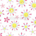 親しみやすい太陽 シームレスなベクトルパターン設計