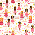 Little Princesses Seamless Vector Pattern