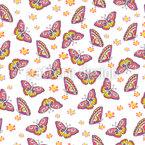 Flug Der Schmetterlinge Nahtloses Vektormuster