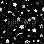 Sternschnuppenhimmel Nahtloses Vektormuster