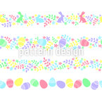 Easter Border Seamless Vector Pattern Design