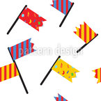 Finish Flag Seamless Vector Pattern Design