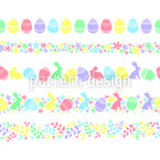 Easter Holiday Border Seamless Vector Pattern Design