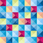 Motley Squares Seamless Vector Pattern Design