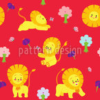 Playful Lion Baby Pattern Design