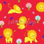 Verspieltes Löwenbaby Musterdesign