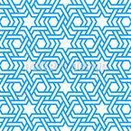 Estrelas e listras Árabes Design de padrão vetorial sem costura