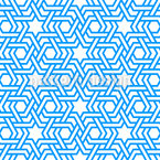 Arabic stars and stripes Repeat Pattern