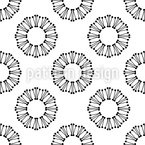 Around in Circles Seamless Vector Pattern Design