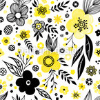 Flowering Landscape Seamless Vector Pattern