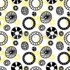 Doodle Wheels Seamless Vector Pattern Design